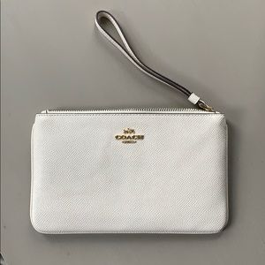COPY - Cream Leather Wristlet